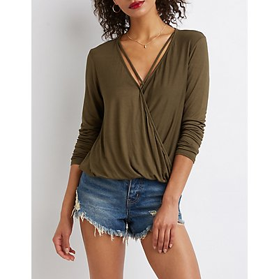 Caged Wrap Top