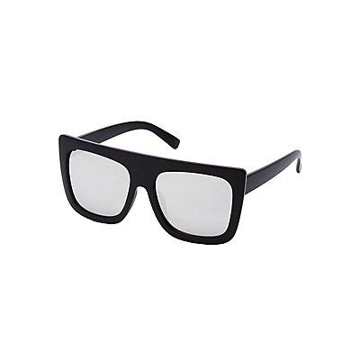 Matte Black Shield Sunglasses