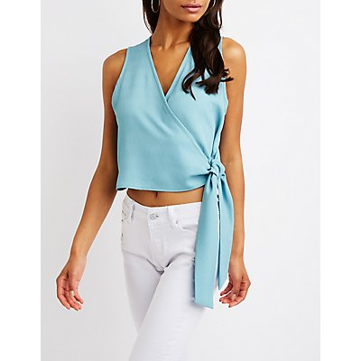 Wrap Tie Crop Top