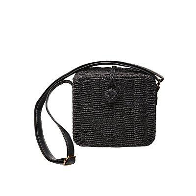 Rattan Woven Crossbody Bag