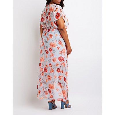 Floral Wrap Maxi Dress