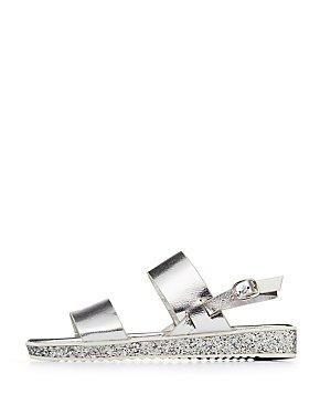 Bamboo Metallic & Glitter Flat Sandals