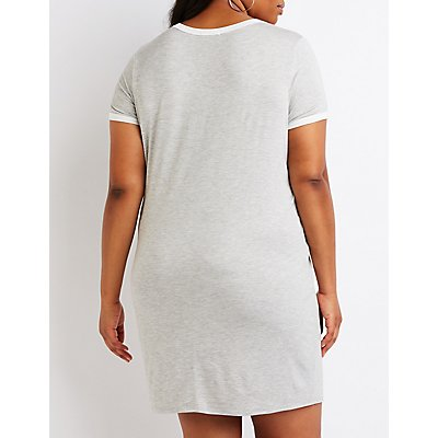 Plus Size #Blessed T-Shirt Dress