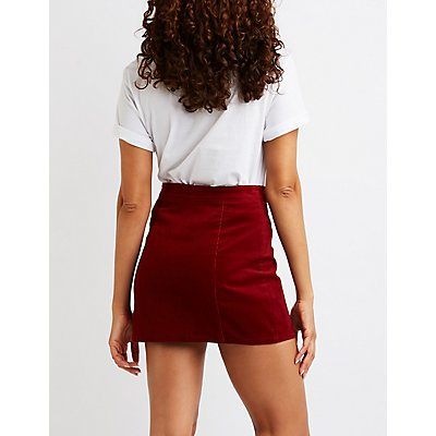 Zip-Up Mini Skirt