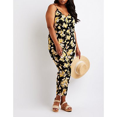 Plus Size Floral Jumpsuit