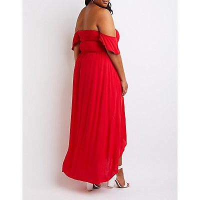 Plus Size Off The Shoulder Maxi Dress