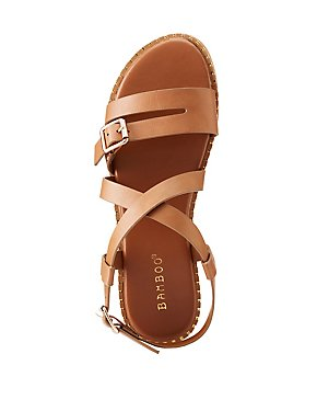 Bamboo Strappy Flat Sandals
