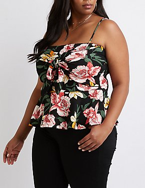 Plus Size Floral Peplum Top