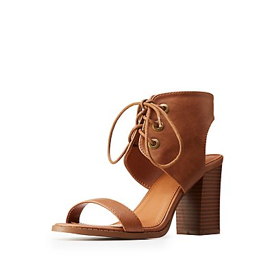 Lace Up Ankle Wrap Sandals