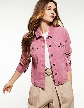 Corduroy Button-Up Jacket