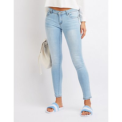 Mid Rise Push Up Skinny Jeans