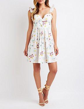 Floral Wrap Sun Dress