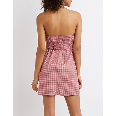 Checkered Sweetheart Skater Dress