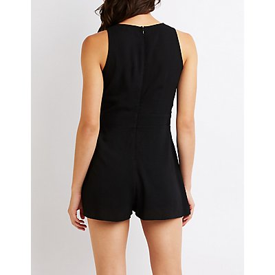 Knotted Bow Romper