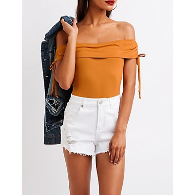 Cinched Off The Shoulder Bodysuit