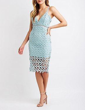 Crochet Midi Bodycon Dress