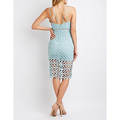 Crochet Bodycon Midi Dress