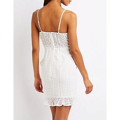 Eyelet Wrap Dress