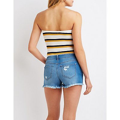 Stripe Strapless Bodysuit