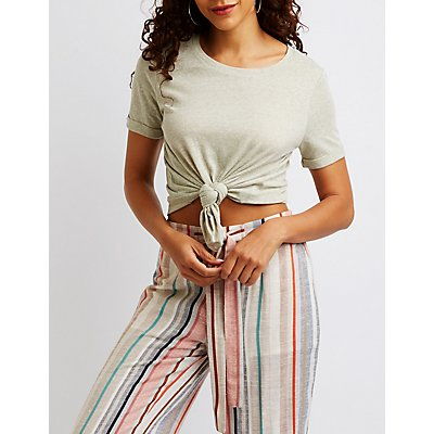 Slub Knit T-Shirt