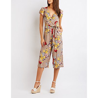 Floral Wrap Jumpsuit