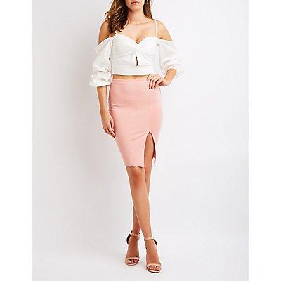 Slit Pencil Skirt