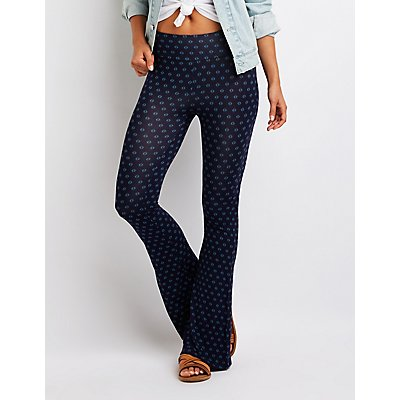 Floral Flare Pants