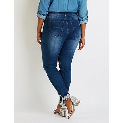 Plus Size Refuge Destroyed Boyfriend Jeans