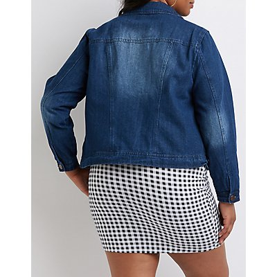 Plus Size Classic Denim Jacket