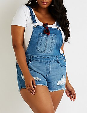 Refuge Destroyed Short Overalls