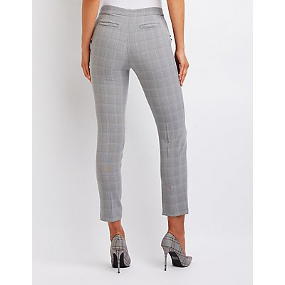 Ruffle Plaid Trousers