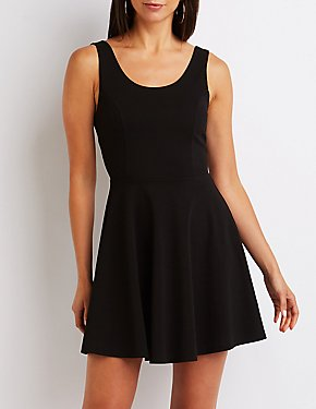Wired Back Skater Dress