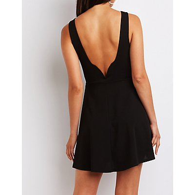 Notched Back Skater Dress