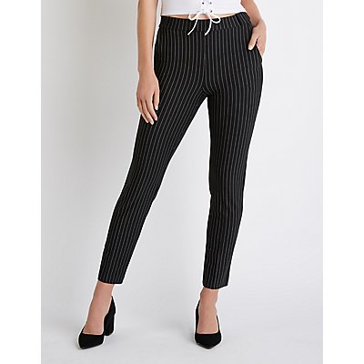 Striped Skinny Trousers