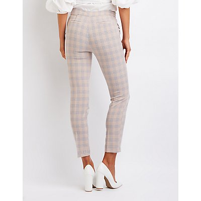 Ruffle Plaid Trousers