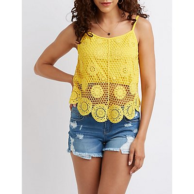 Medallion Crochet Tank Top