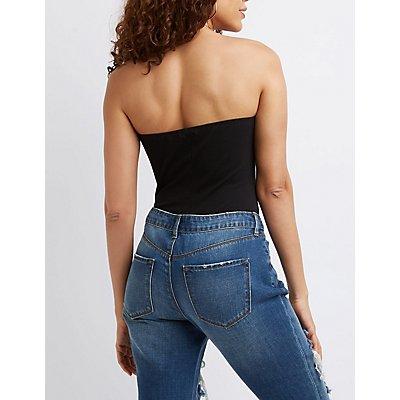 Strapless Varsity Stripe Bodysuit