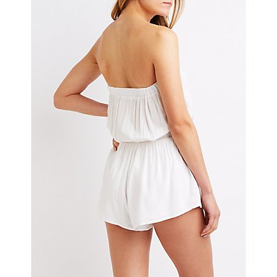 Caged Front Romper
