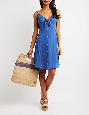 Cut Out Button Up Dress