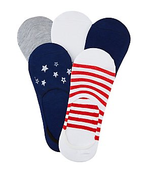 Stars & Stripes Shoe Liners - 5 Pack