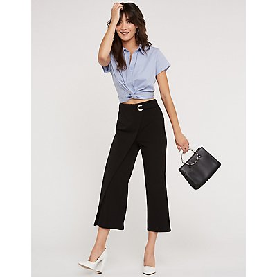 Faux Wrapped Trousers