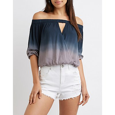 Ombre Off The Shoulder Top