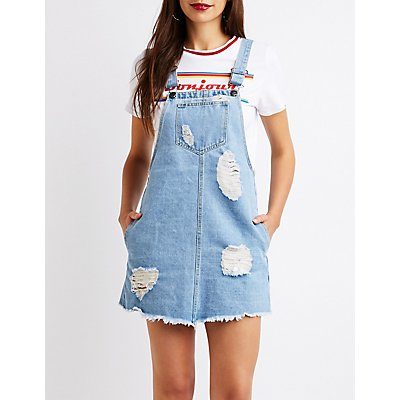 Destroyed Denim Jumper