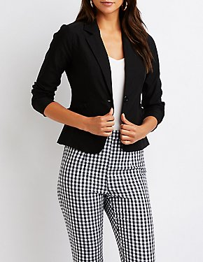 Ruffle Pocket Blazer