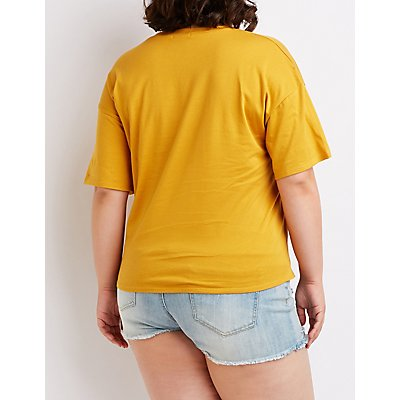 Plus Size Malibu Graphic Tee