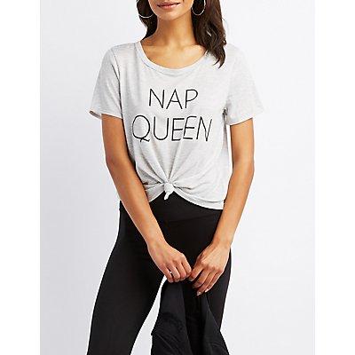 Nap Queen Scoop Neck Tee