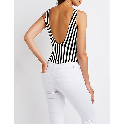 Striped Au Revoir Bodysuit