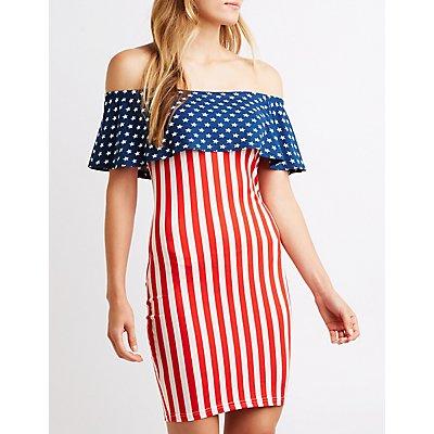Printed Off The Shoulder Dress