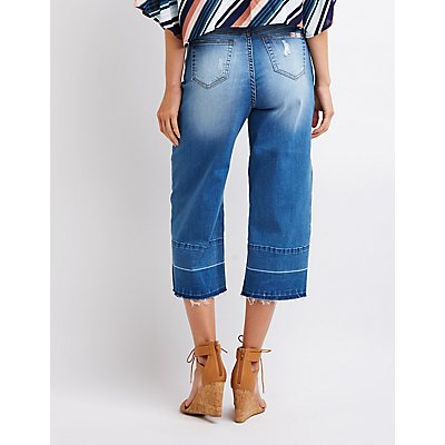 Machine Jeans Destroyed Wide Leg Jeans