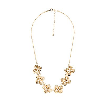 Flower Faux Pearl Necklace
